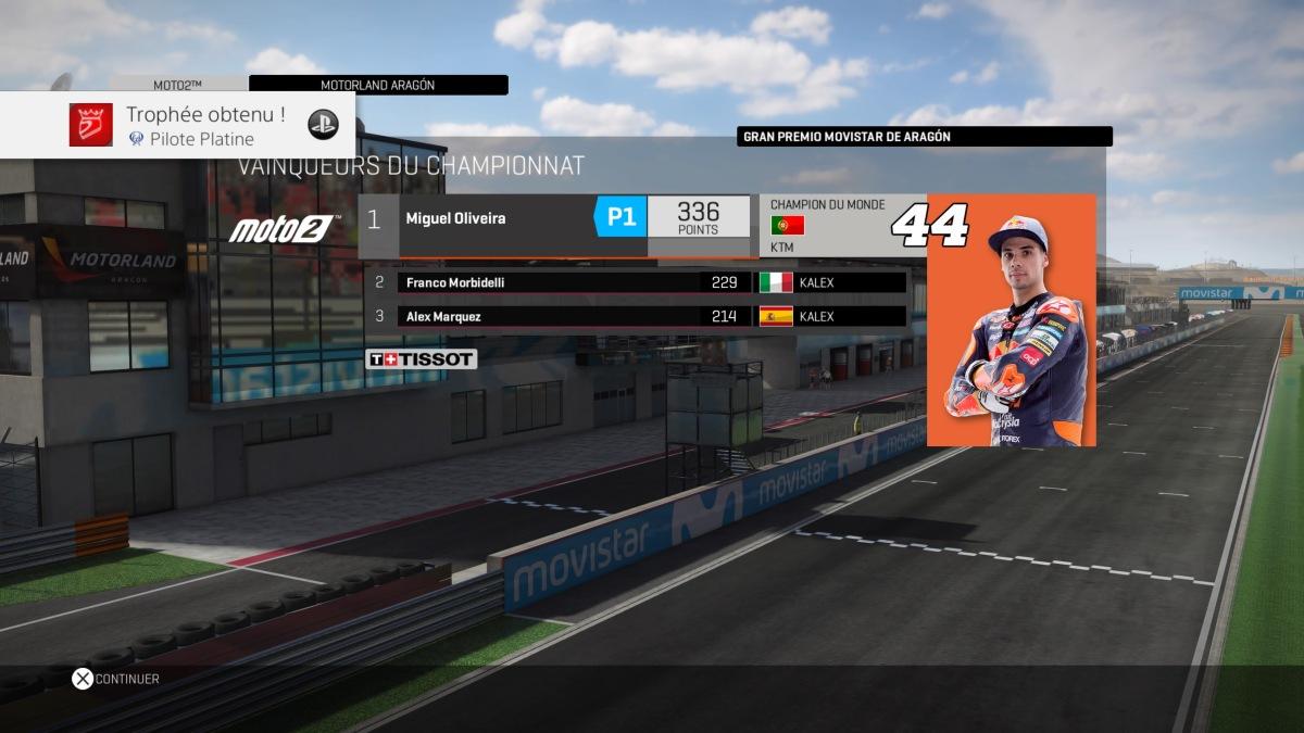 Guide des trophées MotoGP 17